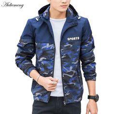 361dd1bf38d2 Jackets Men Windbreaker 2018 Spring Fashion Basic Jacket Hooded Thin  Camouflage Men Jacket Coats Male Clothes Coat Outwear za106