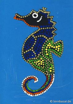 Seepferdchen mit Dot-Painting