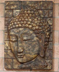 Handmade Buddha Wall Panel