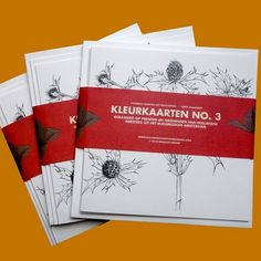 De kleurkaarten die uitgegeven zijn bij Kleurboek No. 3. Zo kun je een wel heel persoonlijk kaartje sturen!