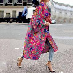 Damen Mantel Winter, Look Fashion, Womens Fashion, Plus Size Winter, Boho Stil, Vintage Prints, Vintage Floral, Fashion Prints, Coats For Women