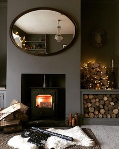 """Farrow & Ball on Instagram: """"All for these cosy nights by the fire — especially against a backdrop of #MolesBreath, a moody grey. #FarrowandBall 📷 by…"""""""