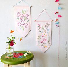Embroidery Kit Hand embroidery Christmas gifts by TamarNahirYanai