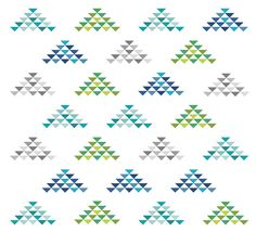 Flock of Half-Square Triangles: block tutorial - 13 Spools