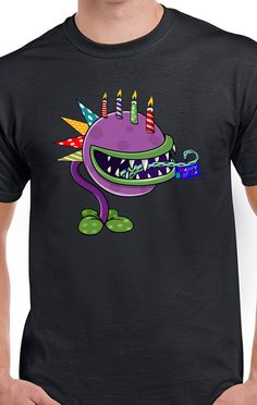 Plants VS Zombies New Birthday Chomper T-Shirt Garden War Fare 2 PVZ GW 2