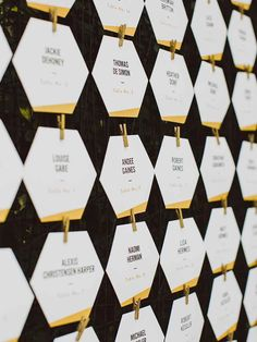 19 Modern Escort Cards for a Stylish First Impression | TheKnot.com