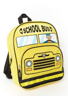 Children's Vehicle Backpacks (Yellow school bus) - Click image twice for more info - See a larger selection of yellow  backpacks at http://kidsbackpackstore.com/product-category/yellow-backpacks/ - kids, juniors, back to school, kids fashion ideas, teens fashion ideas, school supplies, backpack, bag , teenagers girls , gift ideas, yellow