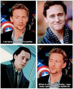 He has a scarf. A Loki scarf.