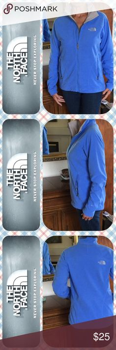 🏞 The North Face Spring Weight Jacket EUC 🏞 Med. 🏞 Lovely baby blue North Face light fleece jacket for now and cooler summer evenings. Add a thermal liner and some wool in the winter and and you are an all season vehicle!!! This has much attention to detail: toggles at the hips, 2 internal slip pockets with mesh lining, YKK zippers, no signs of wear, and a locker/gym hook at the neck. Classic TKA! The North Face Jackets & Coats