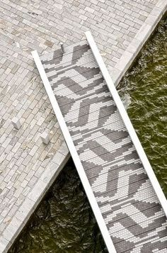 Paver pattern. Bridge in the Orestad area of Copenhagen.