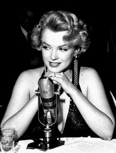 """Marilyn Monroe at the premiere of Baby Doll. """