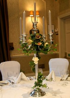 Flowers and candelabras are made for eachother
