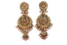Chand Bali, National Museum, New Delhi Indian Wedding Jewelry, Bridal Jewelry, Gold Jewelry, Jewelry Accessories, Jewelry Design, Antique Earrings, Antique Jewelry, Bali, Gold Earrings Designs