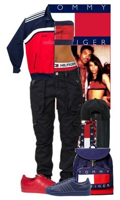 Happy birthday Aaliyah by ladiijae on Polyvore featuring Tommy Hilfiger, adidas, adidas Originals, &K, happybirthday, tommyhilfiger and aaliyah