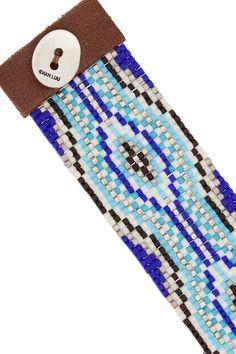 Chan Luu|Beaded leather bracelet|NET-A-PORTER.COM