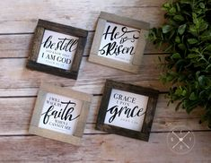 Your place to buy and sell all things handmade Bible Verse Signs, Bible Verses, He Is Risen Sign, New England Farmhouse, Travel Baby Showers, Will And Grace, Sign Display, Farmhouse Design, Custom Framing
