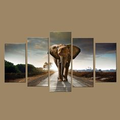 The days of boring and boring decorations have been left behind to make way for an incredible way to do it with originality, and that way is through the personalized decorative custom wall art. 5 Panel Wall Art, Elephant Home Decor, Bible Verse Wall Art, Custom Wall, Modern Wall Art, Print Pictures, Animal Paintings, Canvas Art Prints, Home Art