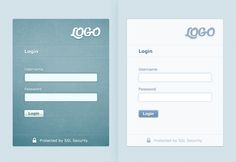 Sample login screens