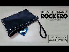 DIY - BOLSO DE MANO ROCKERO INSPIRADO EN VALENTINO   AngieRomeroDIY - YouTube