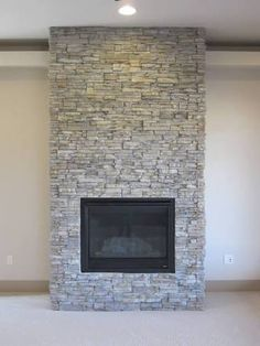 wood heater stack stone - Google Search