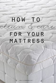 It's super easy!  How to Clean & Care For Your Mattress | Clean Mama #WholesaleMattress