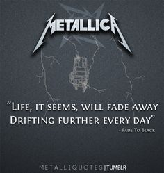 Fade to black: Metallica  Song gives me chills