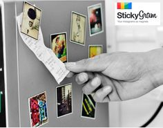 StickyGrams: Turns your Instagram images into magnets, each about the size they appear on your phone. via 1st-home-design-interior #StickyGrams #Instagram #Magnet