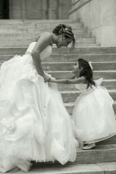 Bride and flower girl picture:)