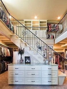 Two-story walk-in closet