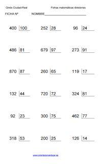 hojas de ejercicio de multiplicaciones para primaria | clasa-5 ...