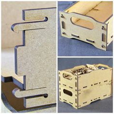 Stackable clip together boxes