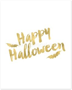 Free Gold Halloween Printable - part of the gold Halloween Collection from Yellow Bliss Road