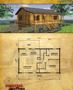 Honest Abe Log Homes designs, manufactures and builds energy-efficient, custom log homes, log cabins and timber frame houses. Our catalog of floor plans features 44 of Honest Abe Log Homes designs with details about materials provided in our log cabi. Small Log Cabin Kits, Tiny House Cabin, Log Cabin Homes, Small House Plans, Log Cabins, Mountain Cabins, Log Cabin Floor Plans, House Floor Plans, Barn Plans