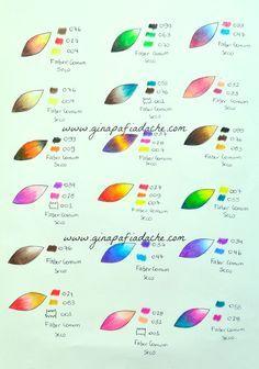 Atelier Gina Pafiadache: Sugestão de cores para os livros de colorir! #4