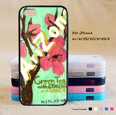 Green Tea Phone Case For iPhone 6 Plus For iPhone 6 For iPhone 5/5S For iPhone 4/4S For iPhone 5C-5 Colors Available