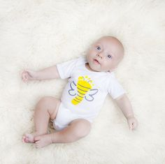 Luc&Lou Bumblebee onesie. Your little one will be the Buzzzzz around town while sporting this bumblebee onesie. For every onesie purchased, another onesie is donated to a baby in need. www.lucandlou.com  #lucandlou #2babies2smiles #NICUgrad #onesies @onesie #gift #toddler #oneforone #bee #bumblebee #babyshower
