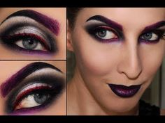Halloween Makeup Tutorial: Disney Villain Maleficent Pretty witch make up Halloween Makeup Youtube, Halloween Face Makeup, Witch Makeup, Eye Makeup, Makeup 2016, Witch Eyes, Evil Witch, Dark Witch, Wicked Witch