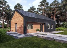 Dark House, Relaxing Places, Modern Barn, Modern Architecture House, Grand Designs, Home Fashion, Windows And Doors, My Dream Home, Bungalow
