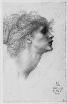Edward Coley Burne-Jones, Desiderium, a Study for the Masque of Cupid on ArtStack Daily Drawing, Life Drawing, Figure Drawing, Drawing Sketches, Painting & Drawing, Art Drawings, Pastel Drawing, Rembrandt, Edward Burne Jones