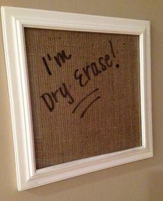 Framed Dry Erase Board