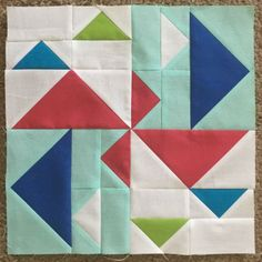 "Duck, Duck, Goose! Join nine of these blocks for a nice tummy time quilt. Or tinker with the block size to make a single 36"" block quilt."