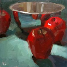 Drawn to Reflections, painting by artist Carol Marine. My favorite daily painter