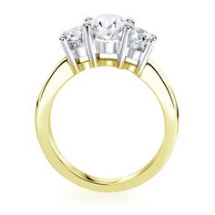 Birks Collection, 3-stone Diamond Engagement Ring, in 18kt Yellow and White Gold