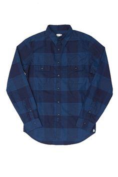 Franklin Indigo Blue Plaid Shirt
