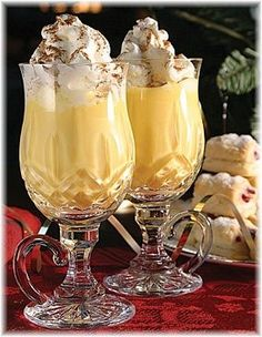 Christmas Eggnog Recipe egg nog recipe uses 4 cups milk, 12 eggs. Halved the recipe and used 2 cups milk, 1 cup light cream, 1 cup whipping cream, no cloves or nutmeg. Delicious. Can be made 2 days ahead.  Custard should slightly thicken during 3-5 minutes of heating/stirring. Used 1 oz. alcohol to 4 oz. nog. Perfect.