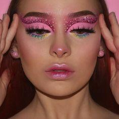 Dope Makeup, Indie Makeup, Makeup Eye Looks, Eye Makeup Art, Daily Makeup, Pink Makeup, Crazy Makeup, Glam Makeup, Pretty Makeup