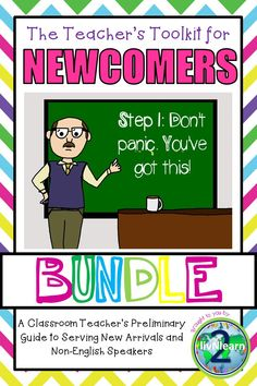 Take the stress out of differentiating for your Newcomer/non-English speaker with this almost 300 page bundle made up of 6 separate products plus additional content.  You'll find information and teacher tips included, as well as flash cards, easy readers, and worksheets centered around eleven themes: school words and actions, colors, numbers, shapes, feelings, days of the week, months of the year, weather, body parts and actions vocabulary.