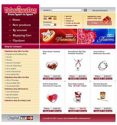 Valentine's Day osCommerce Templates by Maxwell