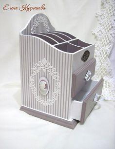 Elena Kuznetsova's photos Decoupage Glass, Decoupage Box, Wood Boxes, Diy And Crafts, Jewelery, Scrap, Shabby, Design, Home Decor