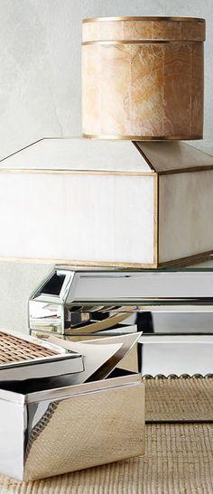 Brass border boxes | Neutral Interior Design Ideas